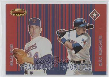 2001 Bowman's Best - Franchise Favorites #FF-RR - Nolan Ryan, Alex Rodriguez
