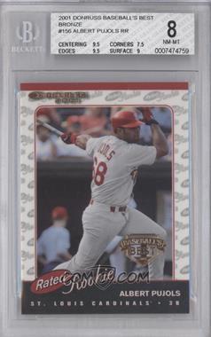 2001 Donruss - [Base] - Baseball's Best Bronze #156 - Albert Pujols [BGS8]