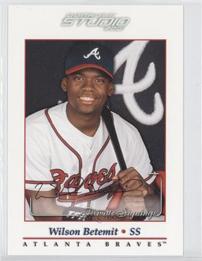 2001 Donruss Studio - Private Signings #WIBE - Wilson Betemit