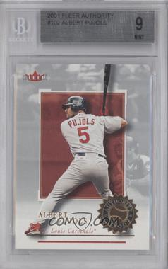 2001 Fleer Authority - [Base] #102 - Albert Pujols /2001 [BGS 9]