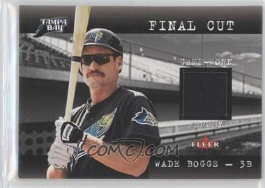 2001 Fleer Genuine - Final Cut Jerseys #WABO - Wade Boggs