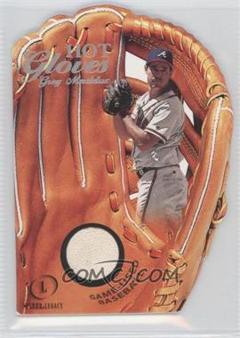 2001 Fleer Legacy - Hot Gloves Game-Used Ball #15HG - Greg Maddux