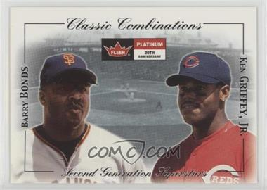 2d9d21e59d 2001 Fleer Platinum - Classic Combinations #21 CC - Barry Bonds, Ken  Griffey Jr. /1000