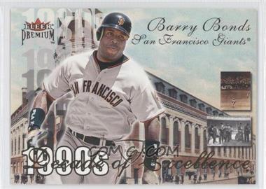 2001 Fleer Premium - Decade of Excellence #39 de - Barry Bonds