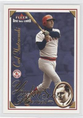 2001 Fleer Red Sox 100th - Yawkey's Heroes #8 YH - Carl Yastrzemski