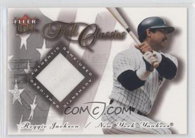 2001 Fleer Ultra - Fall Classics Memorabilia #REJA - Jersey - Reggie Jackson