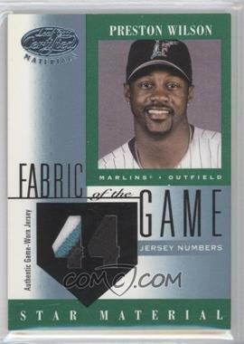 2001 Leaf Certified Materials - Fabric of the Game #FG-103 - Preston Wilson /44