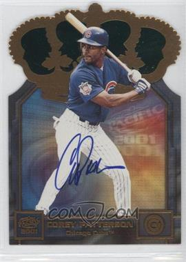 2001 Pacific - Gold Crown Die-Cuts - Autographs [Autographed] #11 - Corey Patterson