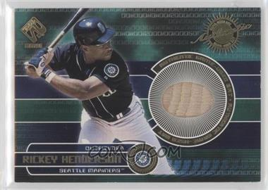 2001 Pacific Private Stock - Game-Used Gear #158 - Rickey Henderson