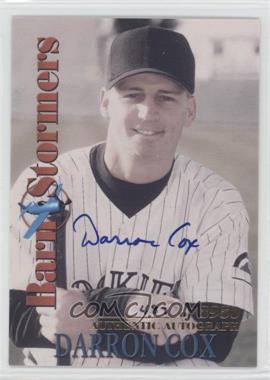 2001 Royal Rookies Throwbacks - BarnStormers - Autographs [Autographed] #B6 - Darron Cox /3950