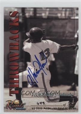 2001 Royal Rookies Throwbacks - [Base] - Autographs [Autographed] #13 - Albenis Machado /5950