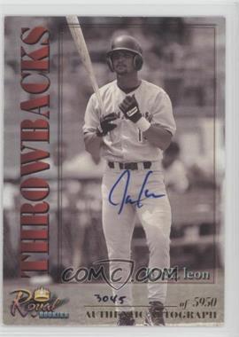 2001 Royal Rookies Throwbacks - [Base] - Autographs [Autographed] #14 - Jose Leon /5950