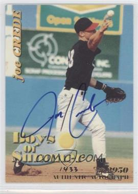 2001 Royal Rookies Throwbacks - Boys of Summer - Autographs [Autographed] #BOS#3 - Joe Crede /2950