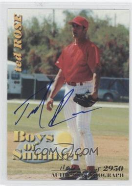 2001 Royal Rookies Throwbacks - Boys of Summer - Autographs [Autographed] #BOS#7 - Ted Rose /2950