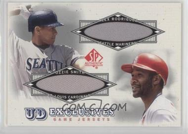 2001 SP Authentic - UD Exclusives Game Jerseys Combos #UDC-RS - Alex Rodriguez, Ozzie Smith