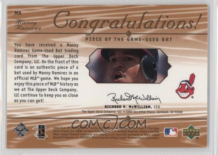 2001 SP Game Bat Edition - Piece of the Game #MR - Manny ...
