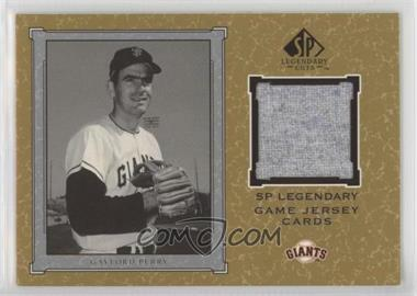 2001 SP Legendary Cuts - Legendary Game Uniform #J-GP - Gaylord Perry