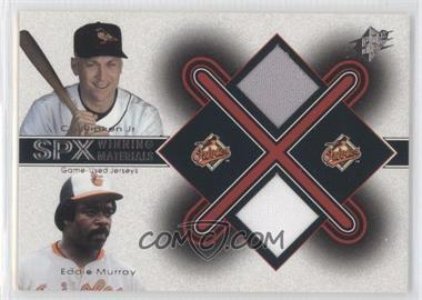 2001 SPx - Winning Materials Jersey Combo #CR-EM - Cal Ripken Jr., Eddie Murray