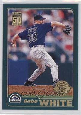 2001 Topps - [Base] - Home Team Advantage #681 - Gabe White