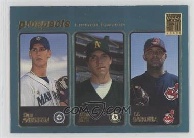 2001 Topps - [Base] - Limited Edition #363 - Barry Zito, C.C. Sabathia, Ryan Anderson [Noted]