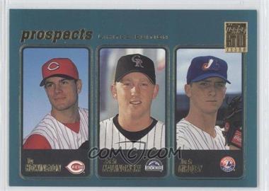 2001 Topps - [Base] - Limited Edition #365 - Ty Howington, Josh Kalinowski, Josh Girdley