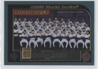 2001 Topps - [Base] - Limited Edition #406 - New York Yankees Team
