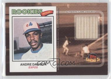2001 Topps American Pie - Rookie Reprint Relics #BBRR-AD - Andre Dawson