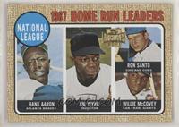 Hank Aaron, Ron Santo, Willie McCovey, Jimmy Wynn