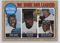 Hank Aaron, Ron Santo, Willie McCovey, Jimmy Wynn
