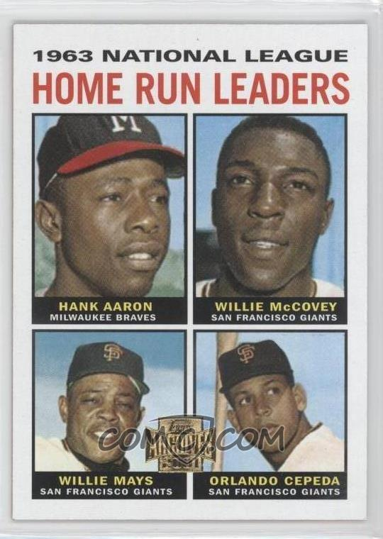 2001 topps archives   base 210   1963 national league
