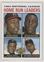 Hank Aaron, Willie McCovey, Willie Mays, Orlando Cepeda