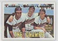 Frank Robinson, Hank Bauer, Brooks Robinson