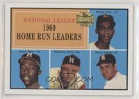 1960 National League Home Run Leaders (Ernie Banks, Hank Aaron, Eddie Mathews, …