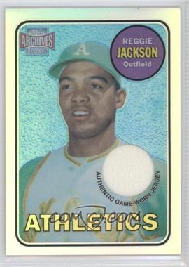 2001 Topps Archives Reserve - Rookie Reprint Relics #ARR14 - Reggie Jackson
