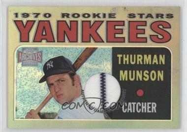 2001 Topps Archives Reserve - Rookie Reprint Relics #ARR17 - Thurman Munson