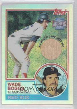 2001 Topps Archives Reserve - Rookie Reprint Relics #ARR44 - Wade Boggs