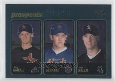 2001 Topps Chrome - [Base] #597 - Roy Oswalt, Pat Strange, Jon Rauch