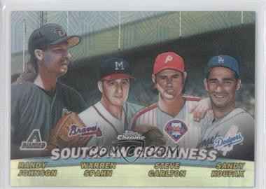 2001 Topps Chrome - Combos - Refractor #TC17 - Southpaw Greatness (Randy Johnson, Warren Spahn, Steve Carlton, Sandy Koufax)