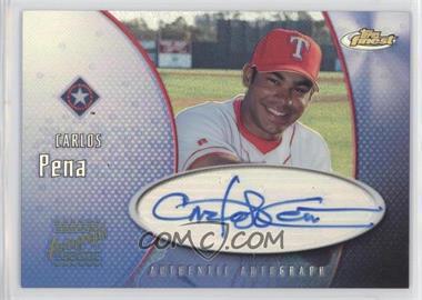 2001 Topps Finest - Authentic Autograph #FA-CP - Carlos Pena