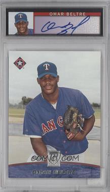 2001 Topps Reserve - [Base] - Graded Autographed Rookie #125 - Omar Beltre /1500 [PSA8]