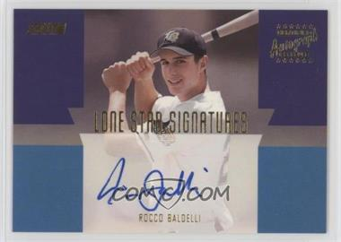 2001 Topps Stadium Club - Lone Star Signatures #LS17 - Rocco Baldelli