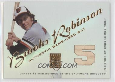 2001 Topps Tribute - Bat Relics #RBBRO.1 - Brooks Robinson (Number)