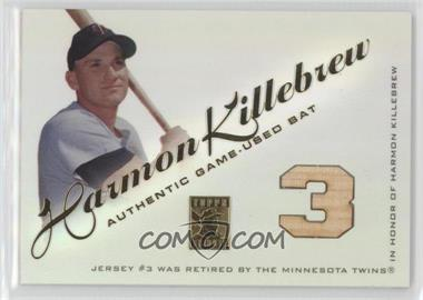 2001 Topps Tribute - Bat Relics #RBHK.1 - Harmon Killebrew (Number)