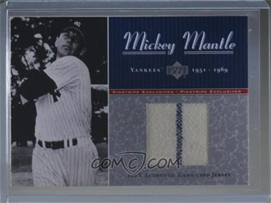 2001 Upper Deck - Pinstripe Exclusives Mickey Mantle Game-Used Jersey #MM-J3 - Mickey Mantle /100