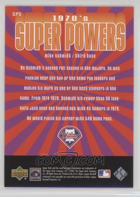 2001 Upper Deck Decade 1970's - 1970's Superpowers #SP5