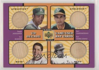 2001 Upper Deck Decade 1970's - Game-Used Bat Combos #C-WS73 - Reggie Jackson, Bert Campaneris, Tom Seaver, Bud Harrelson