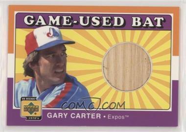 2001 Upper Deck Decade 1970's - Game-Used Bats #B-GC - Gary Carter