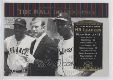 2001 Upper Deck Hall of Famers - [Base] #90 - Willie Mays, Mickey Mantle, Hank Aaron