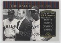 Willie Mays, Mickey Mantle, Hank Aaron