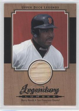 2001 Upper Deck Legends - Legendary Lumber #L-BB - Barry Bonds